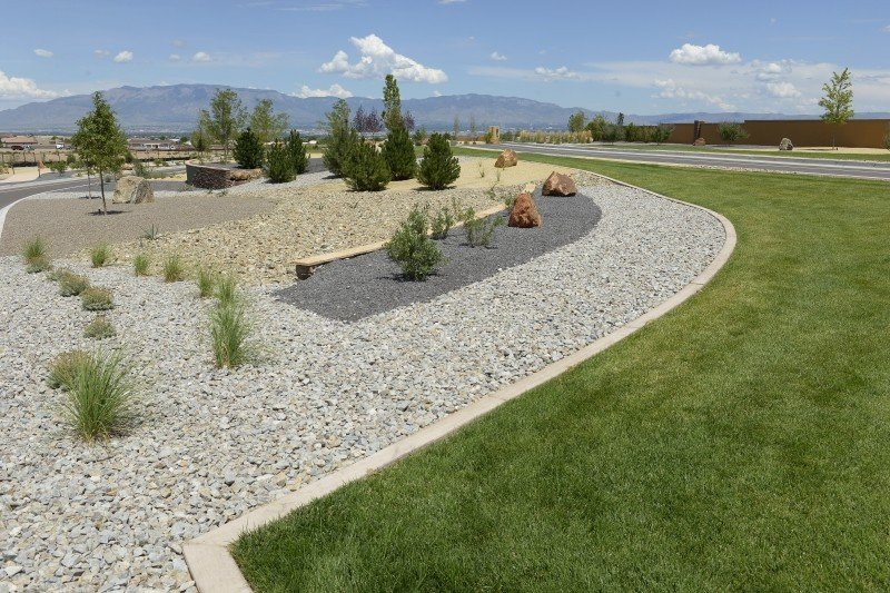 Stone and boulders used in a landscape design.