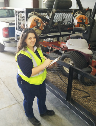 Equipment safety checks at the shop