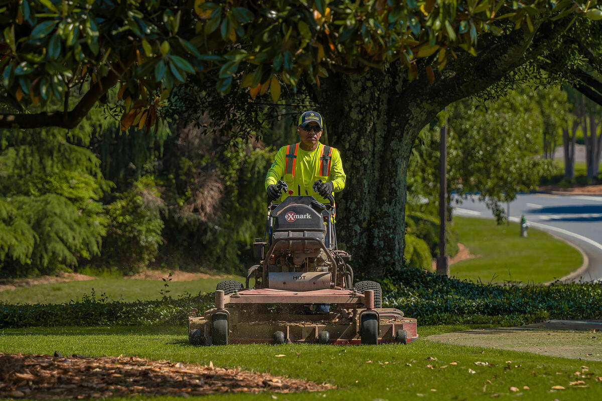 turf mowing services for college campuses