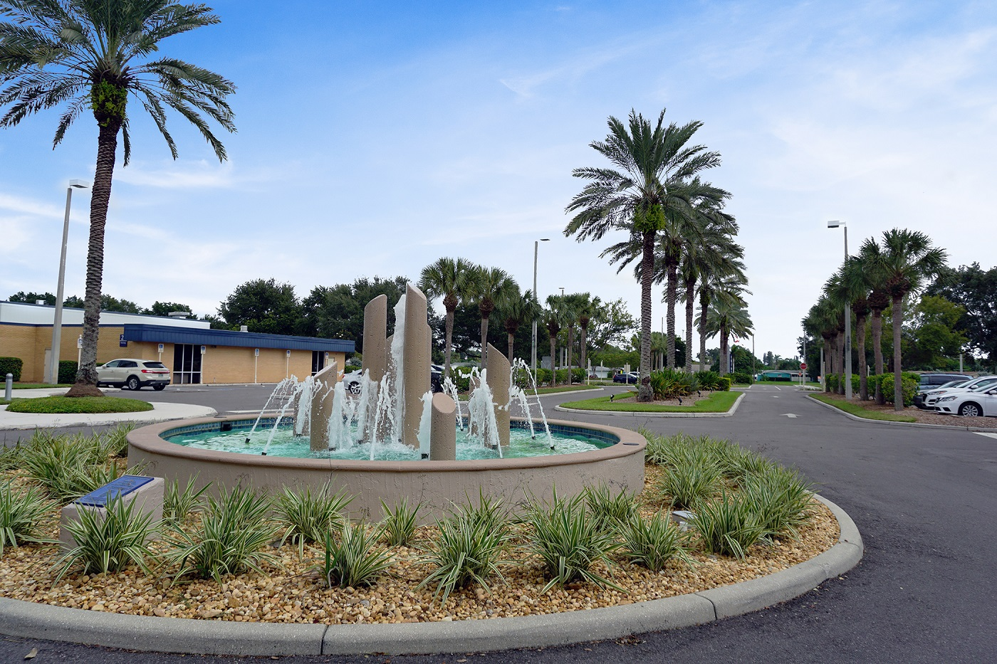 SCF Bradenton landscape fountain