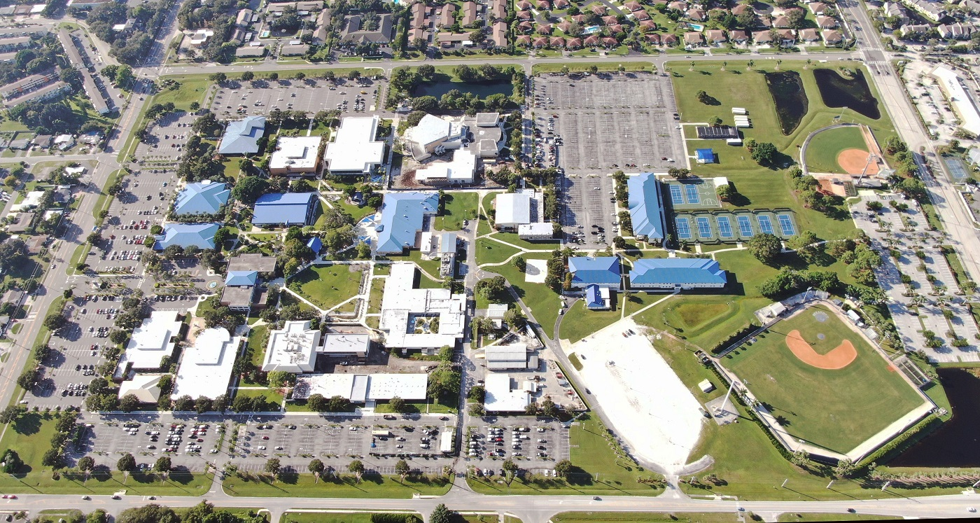 SCF Bradenton campus aerial view