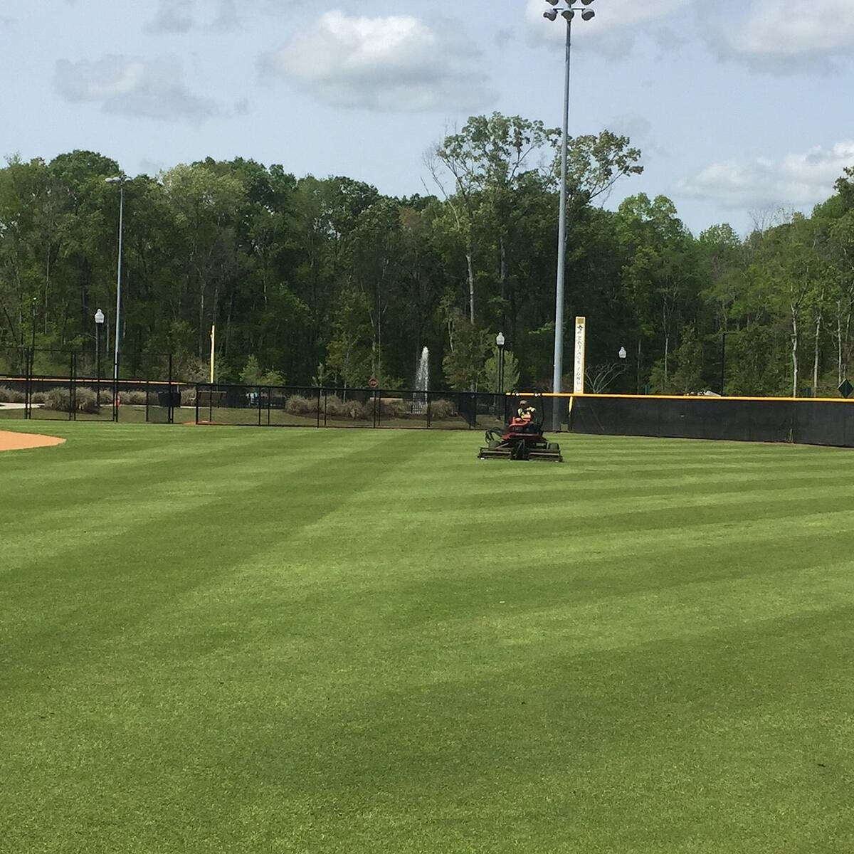 commercial mowing at athletic field