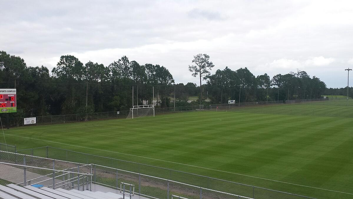 well maintained sports field