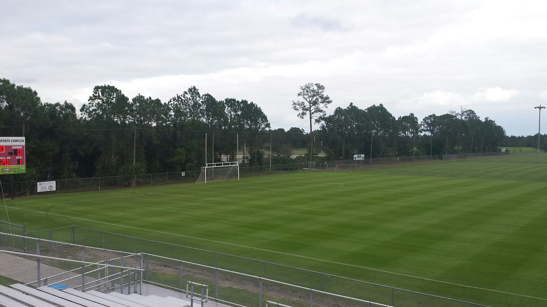Natural grass athletic field