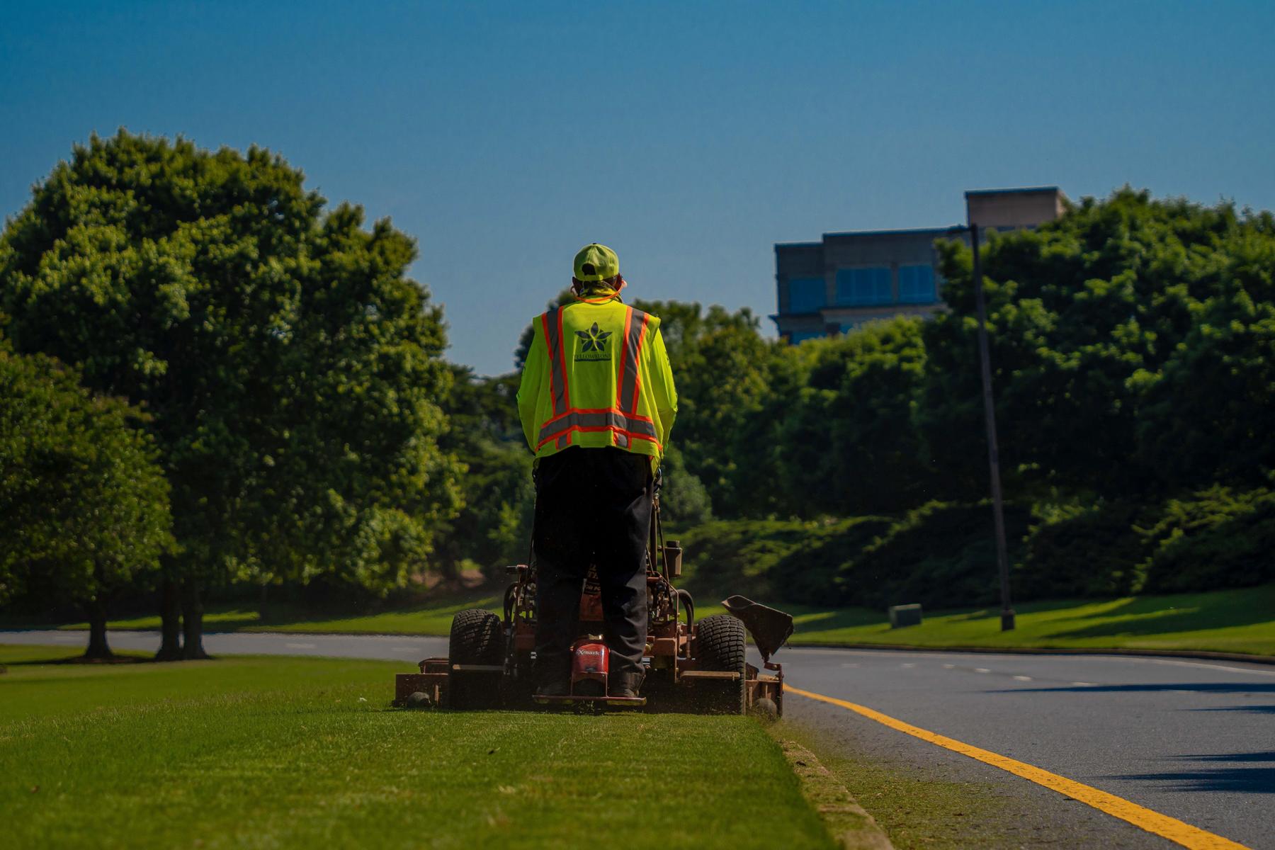 Roadside mowing crew