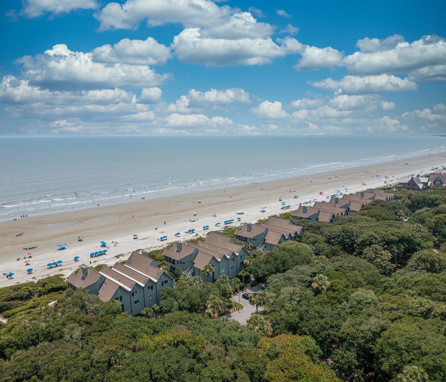 Aerial view of Mariner's Watch Beach in South Carolina