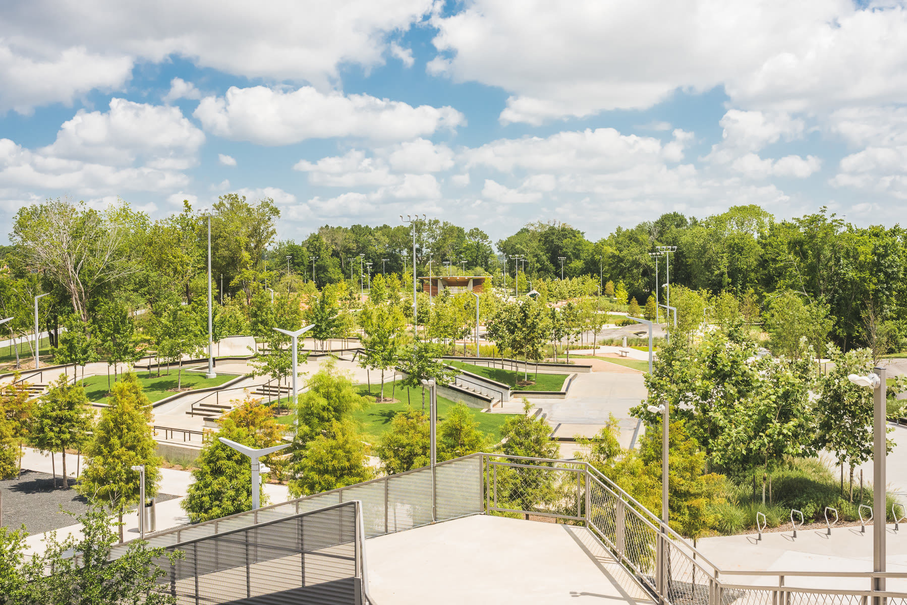 Rockstar Energy Bike Park landscape in Houston, TX