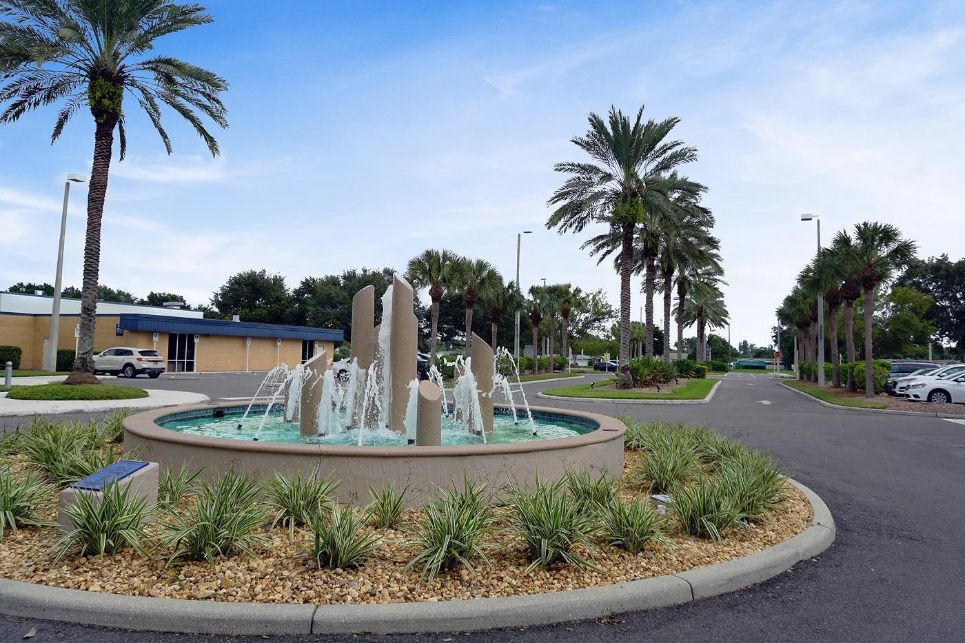 College campus landscape enhancements