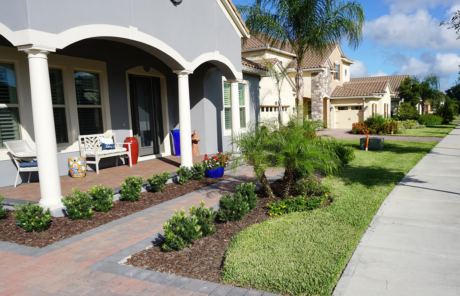 HOA patio and walkway