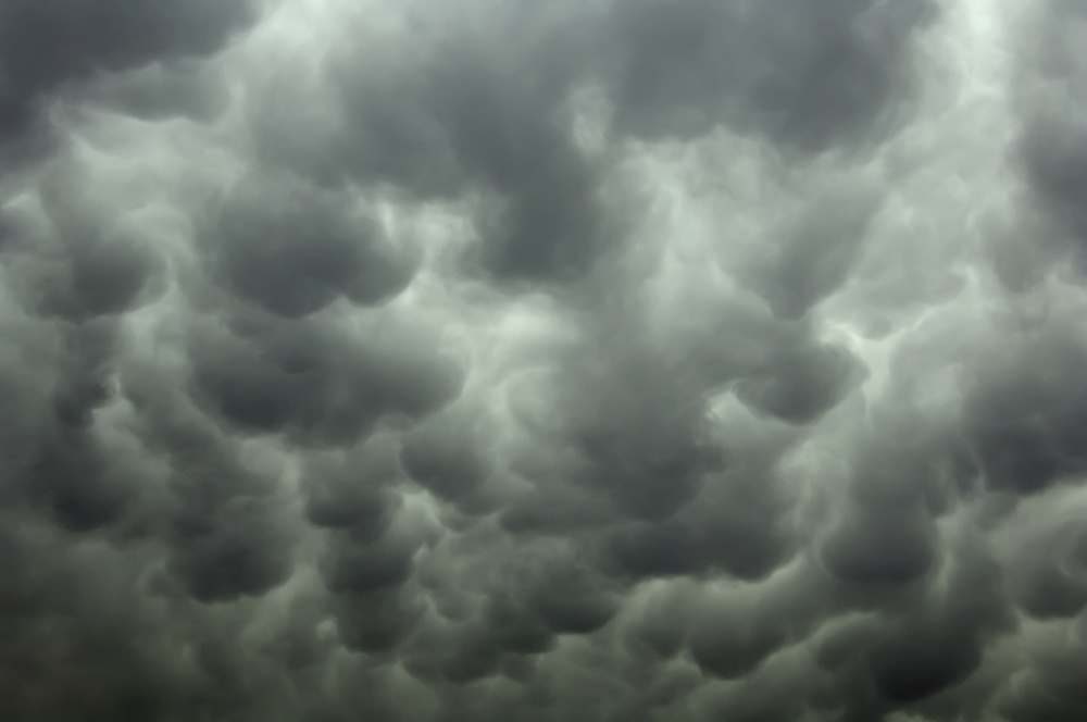 Storm clouds that could damage HOA property