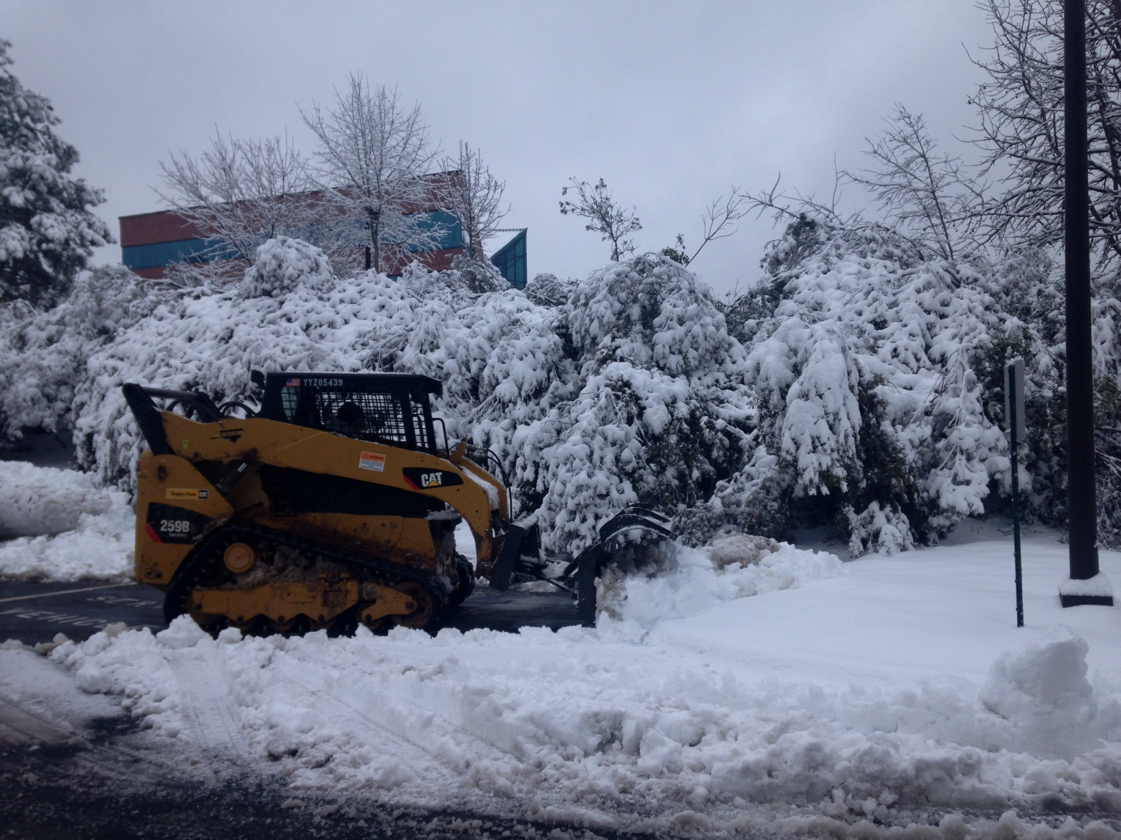 Commercial landscape snow removal